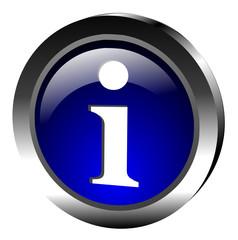 icone information avec reflets