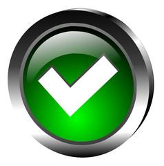 icone valider avec reflets