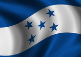 Honduras - flag of - close up