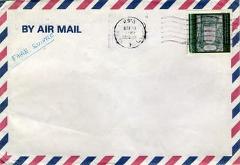 By air mail. Faire suivre. Poste aérienne.