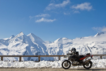 Motorbike in Grossglockner, Austria