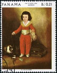 Panama Poste aérienne. Enfant. Goya.