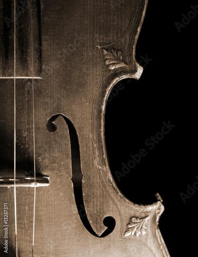 Part of vintage violin - 13267371