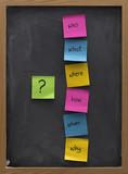 problem solving or brainstorming concept on a blackboard