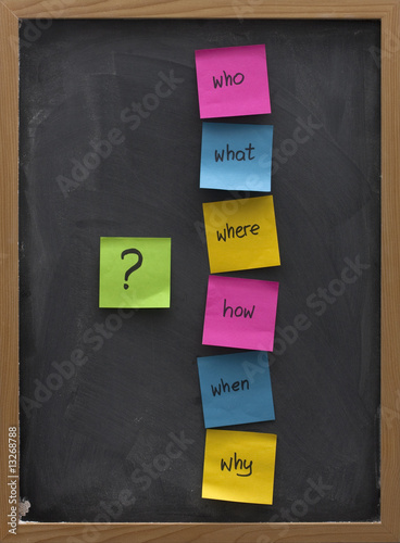 poster of problem solving or brainstorming concept on a blackboard