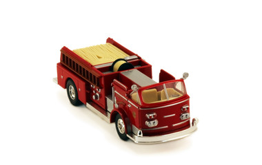 Isolated fire truck