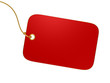 Blank Red Tag isolated on white background