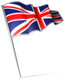Flag pin - United Kingdom poster