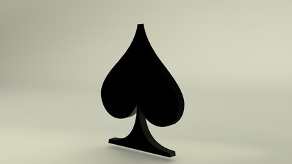3D Rotating Spades card symbol,loopable