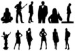 nice people silhouettes