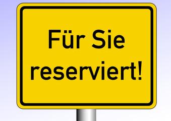 Reserviert!