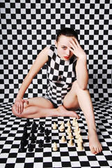 Women, body-at, chess