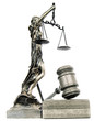 Lady justice and a gavel