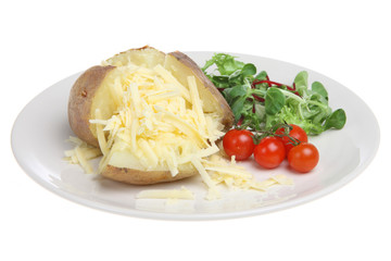 Baked Potato with Cheddar Cheese