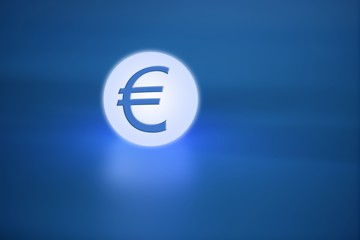 glowing light sphere  with euro currency  sign
