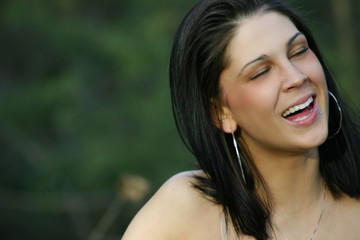 Beautiful lady laughing