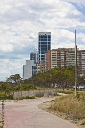 miami beach urban buildings view
