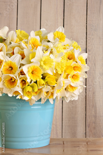 Papiers peints Narcisse Bucket of daffodils
