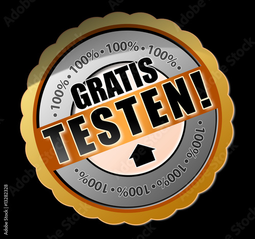 Gratis testen! Button
