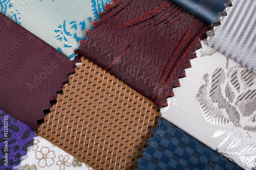colorful textiles swatches