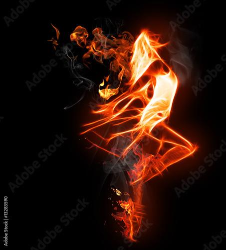 Foto op Canvas Vlam flamy symbol