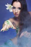 beautiful mermaid girl poster
