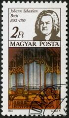 Hongrie, Timbre postal. Johann Sebastien Bach. 1685-1750.