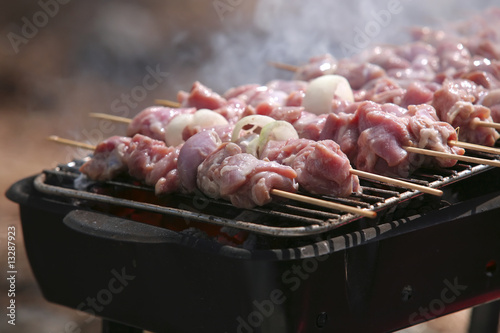 shish kebabs on bbq