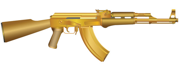 Gold gun illustration