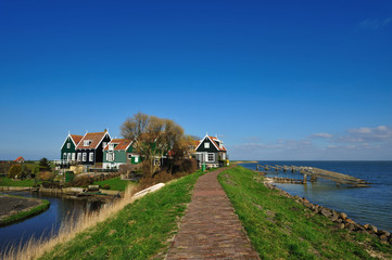 old dutch houses in Marken