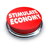 Stimulate Economy - Red Button poster