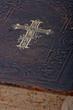 Vintage bible book, closeup