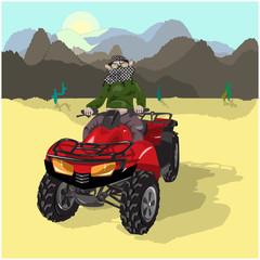 Motosafari on Desert