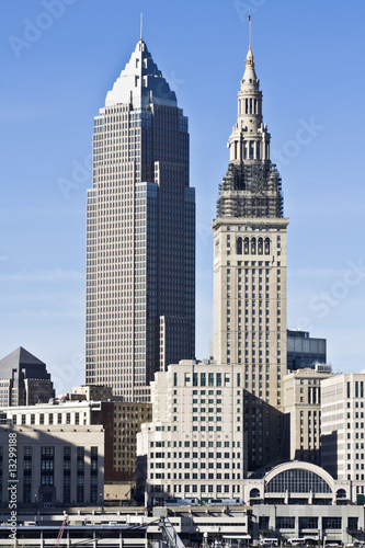 Poster Grote meren Downtown Cleveland