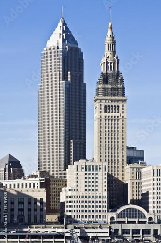 Fotobehang Grote meren Downtown Cleveland
