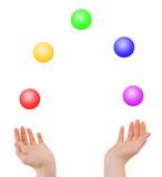 Juggling hands poster