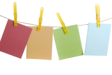 Spring Notecards on Clothesline