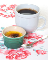 Creme Brulee with Black Coffee