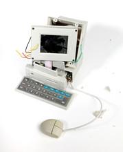 Zerschlagener komputer