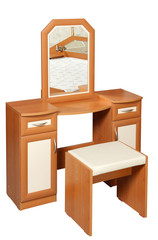 Dressing table, isolated