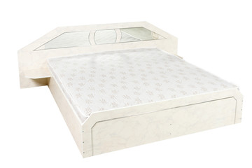 Double bed, isolated