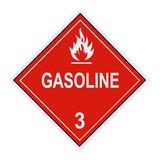 Gasoline Warning Label poster