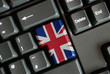 Union Jack Key on keyboard