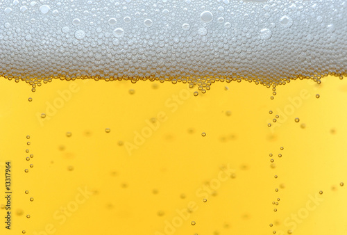 Cool fresh beer bubbles