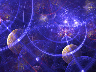 Digitally rendered abstract fractal galaxy image. Good as backgr