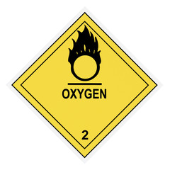 Oxygen Warning Label