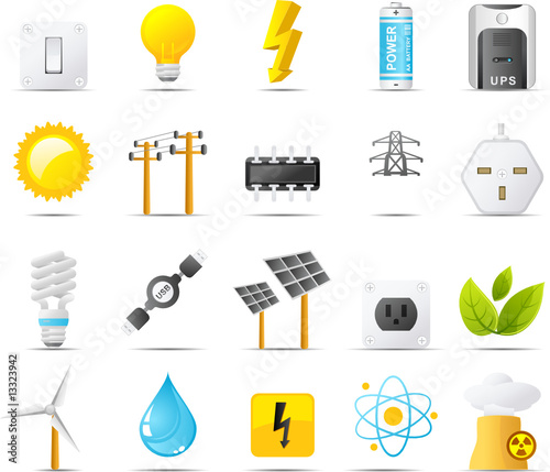 Nouve vector icons. Power, Energy and Electricity