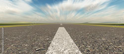 Asphalt road speed panoramic