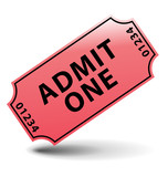 Admit one cinema ticket