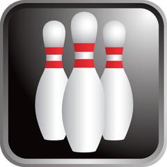 Framed bowling pins